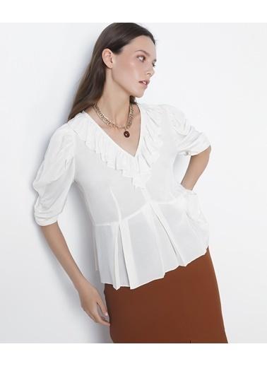 Ipekyol Kadın  Bluz IS1200006216 Krem